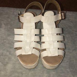 White Fisherman's Platform Sandals